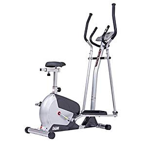 Body Champ 2-in-1 Elliptical Workout and Upright Exercise Bike