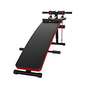 JUFIT Sit Up Bench Adjustable Workout Ab Abdominal Exercise Bench Board BLACK