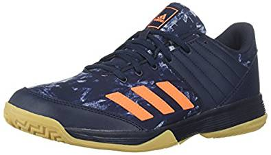 Adidas Men's Ligra 5 Volleyball Shoe, Legend Ink/Hi-Res Orange/Grey Two, 7 M US
