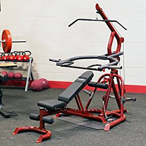 Body-Solid GLGS100P4 Corner Leverage Gym Package