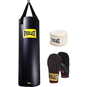 Everlast Heavy Bag Kit 100 lb Pound Punching Boxing Bag
