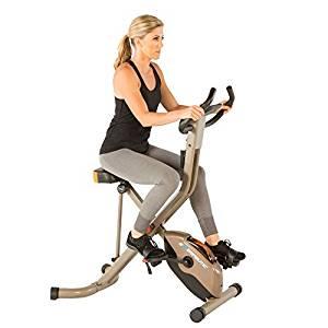 Exerpeutic Gold Folding Upright Exercise Bike
