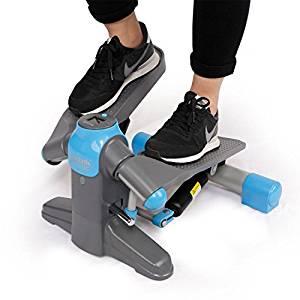 FlexiSport Home Exercise Stepper Machine Mini Step Swivel Elliptical Trainer