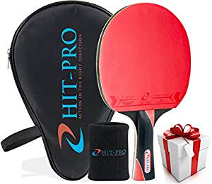 HIT-PRO Ping Pong Paddle with Killer Spin Effect for Advanced and Beginners Players