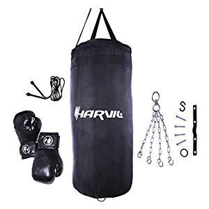 Harvil Kids Boxing Set with 25-Pound Punching Bag, Boxing Gloves