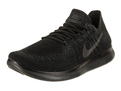 NIKE Men's Free RN Black/Black/Anthracite Running Shoe 12 Men US