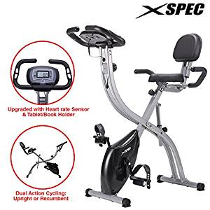 Xspec Foldable Stationary Upright Exercise Bike