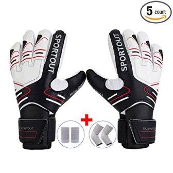 Youth Adult Goalie Goalkeeper Gloves,Strong Grip for The Toughest Saves