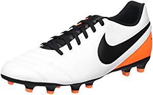 NIKE Tiempo Rio FG Black/Orange Men's Soccer Cleats