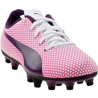 PUMA Kids' Spirit Firm Ground Soccer Shoe