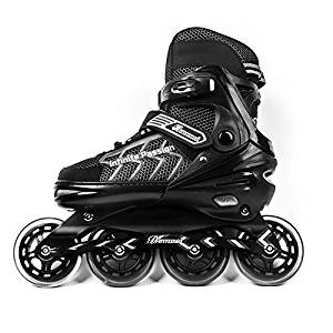 MammyGol Adjustable Inline Skates Adults Mens Rollerblades Hockey Roller Skates with Giant Wheels