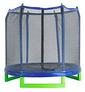 Upper Bounce Indoor / Outdoor Classic Trampoline and Enclosure Set (7-feet)