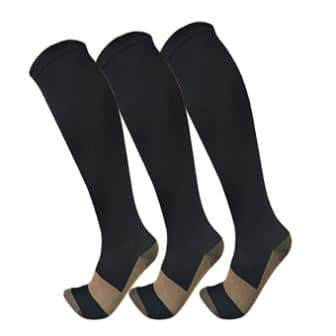 Copper Compression Socks for Men & Women (3 Pairs)