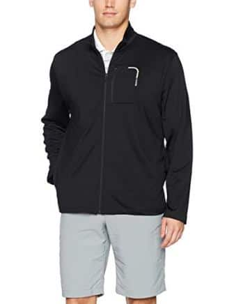 PGA TOUR Men's Long Sleeve Full Zip Brushed Jacket