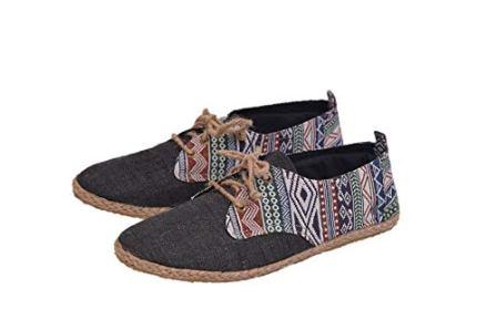 Virblatt Men's Lace-up Espadrille Summer Shoes