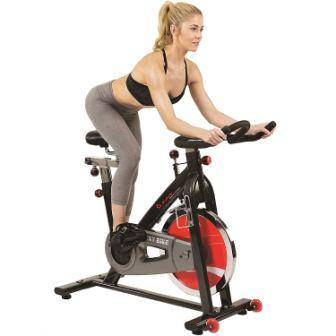 Sunny Health & Fitness Foldable Semi Recumbent Magnetic Upright Exercise Bike