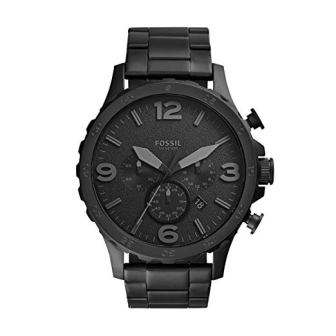 Fossil men's Nate quartz stainless steel watch