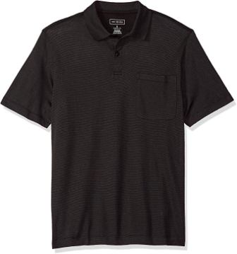 Van Heusen Men's Short Sleeve Jacquard Stripe Polo Shirt