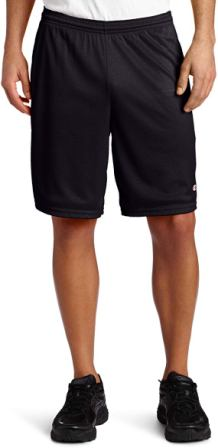 Champion Men's Long Mesh Workout Shorts