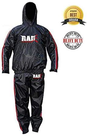 RAD Sauna Suit Men, Women Weight Loss Jacket Pant Gym Workout Sweat Suits
