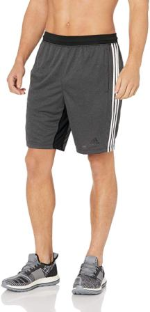 "adidas Men's 4Krft 9"" Sport 3-Stripes Workout Shorts"